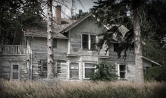 Abandoned Farmhouse (McMorr) Tags: old family house abandoned home rural interestingness farm country neglected eerie spooky explore forgotten weathered disused homestead discarded forsaken deserted abused fallingapart creativenonfiction mcmorr