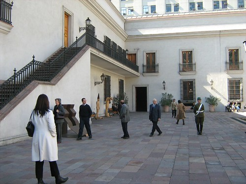 Courtyard of La Moneda Presidential Palace