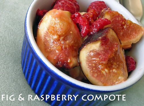fig and raspberry compote