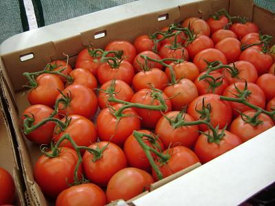 tomatoes at the Public Market