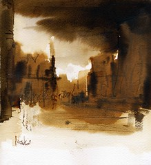A beautiful evening (Behzad Bagheri) Tags: life city light sky urban sun art water sunshine architecture watercolor painting sketch artwork cityscape silent live aquarelle fineart watercolour expressive acuarela esfahan isfahan acquerello artmaster visiblytalented behzadbagheri