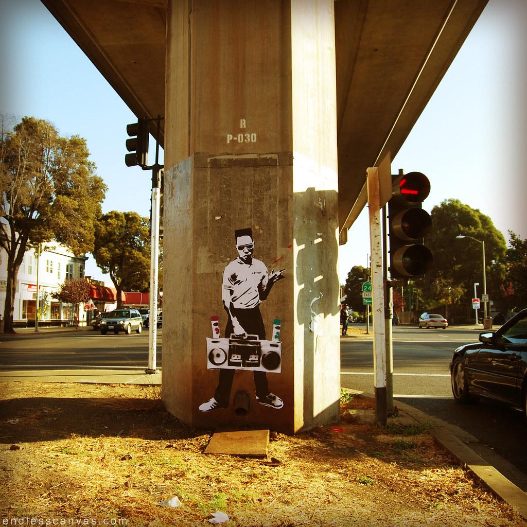 Stencil Graffiti.