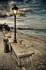 little lighthouse (paride de carlo) Tags: autumn panorama lighthouse beach faro san mare little autunno spiaggia marino paesaggio lampione cataldo