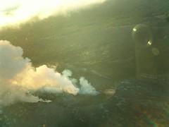 Volcano vents and camera reflections