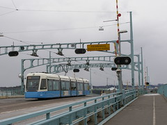 Göta älvbron with tram