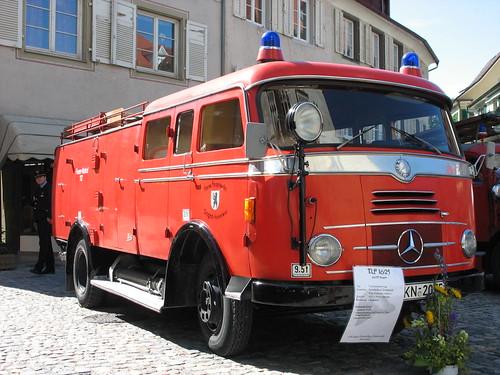 Feuer und Flamme: TLF 16/25 der FF Singen