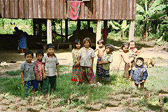 Voen Sai (Linda DV) Tags: 2001 travel people cute barn children geotagged kid asia cambodia child young culture kind criana enfant nio dziecko bambino    lapsi copil dijete ratanakiri  dt  voensai   culturaltravel lindadevolder  photonegativescan