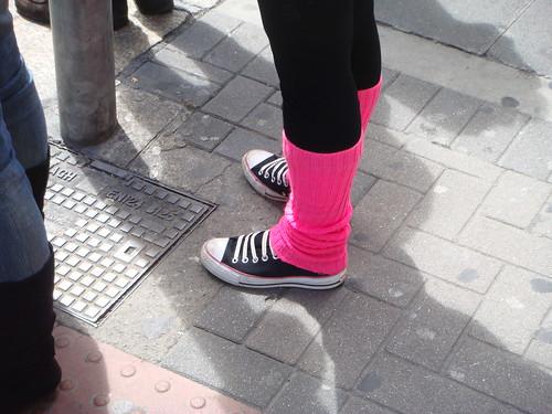 pink ireland summer dublin shoes converse legwarmers chucktaylors stirruppants