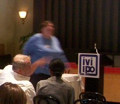 Slow down Aviva, she's just a blur in this pic (Rich pix) Tags: chicago illinois politics liberal tif madigan indpendent iviipo
