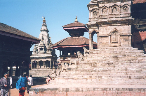 Temples in Bhaktapur Durbar Squre