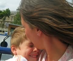 Jules et moi (paulinerevoy) Tags: jules bateau pniche