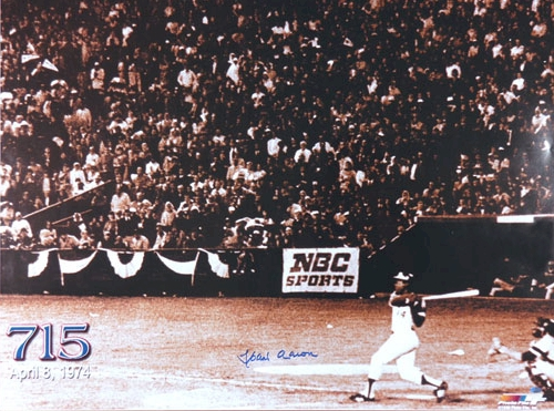 Photo of Henry Aaron's 715th Home Run