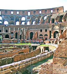 Rome 002 (Xeraphin) Tags: italy rome archaeology ancient roman amphitheatre tourist colosseum arena coliseo flavio coliseum amphitheater archeology titus colliseum colosseo anfiteatro colisée vespasian flavian hypogeum ilcolosseo