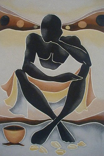 Peinture de sable du Sénégal