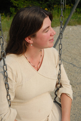 Alahna, pregnant and on the swing
