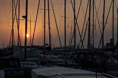 entangled (florin.) Tags: sunset boats slovenia piran