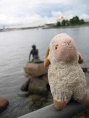 In front of the Little Mermaid - Youssouf in Copenhagen, Denmark - 16 August 2007