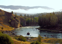 The river that runs through it (Diseuse) Tags: park mountains nature river national slowshutter yellowstone wyoming yellowstoneriver bigskycountry