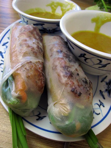 Spring rolls with grilled pork paste from Thanh Nhi