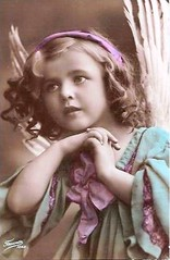 Vintage Postcard ~ Sweet Angel (chicks57) Tags: angel vintage child postcard littlegirl tinted edwardian