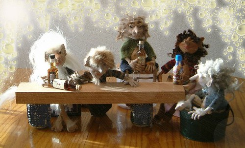 art doll troll drinking party