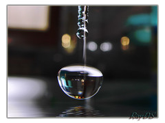 Water Drop on Black (RayDS) Tags: macro reflection water colors reflections photo droplets drops waterdrop drop refraction droplet waterdrops acqua goccia rayds aplusphoto