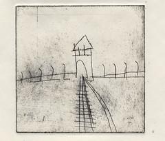 Auschwitz-Birkenau Etching