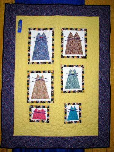 09 TN State Fair #105: cats quilt
