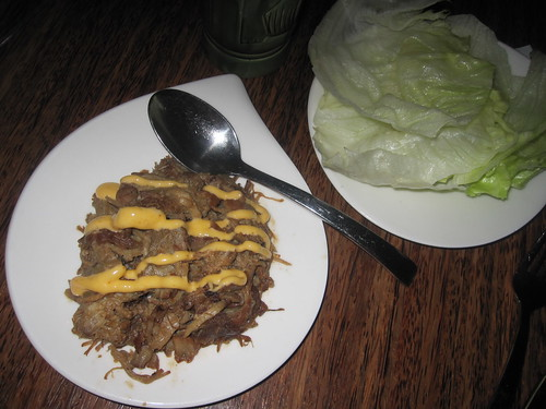 coca-cola pulled pork in lettuce cups at Tonga Room
