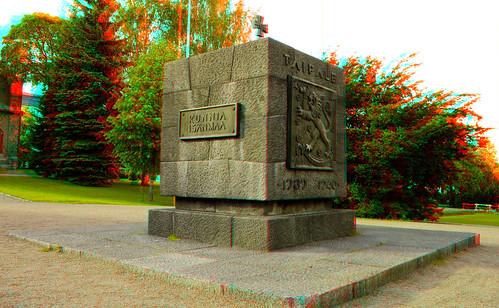 Jyväskylä in stereo anaglyph