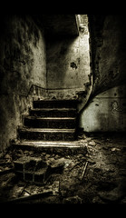 Abandoned Stairs (Tim.D Photography) Tags: blackandwhite bw house color window stairs flickr noiretblanc goth corridor dramatic porte drama maison gothique escalier hdr couleur couloir abandonned besthdr hdrenfrancais abandone francehdr