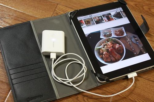 eneloop で iPad を充電中