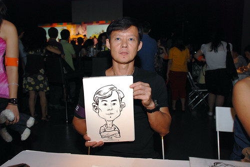 caricature live sketching for SDN First Anniversary Bash - 28