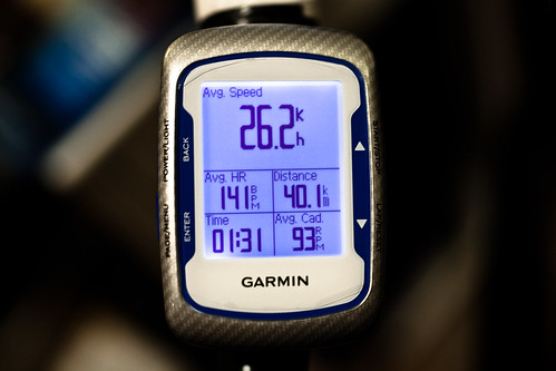 91min 40km ave26.2 Garmin Edge 500