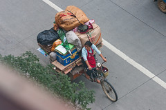 Overloaded freight bicycle in Yangshuo, Guilin