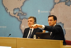 President Abdullah Gl and Robin Niblett (Chatham House, London) Tags: chathamhouse internationalrelations internationalaffairs royalinstituteofinternationalaffairs