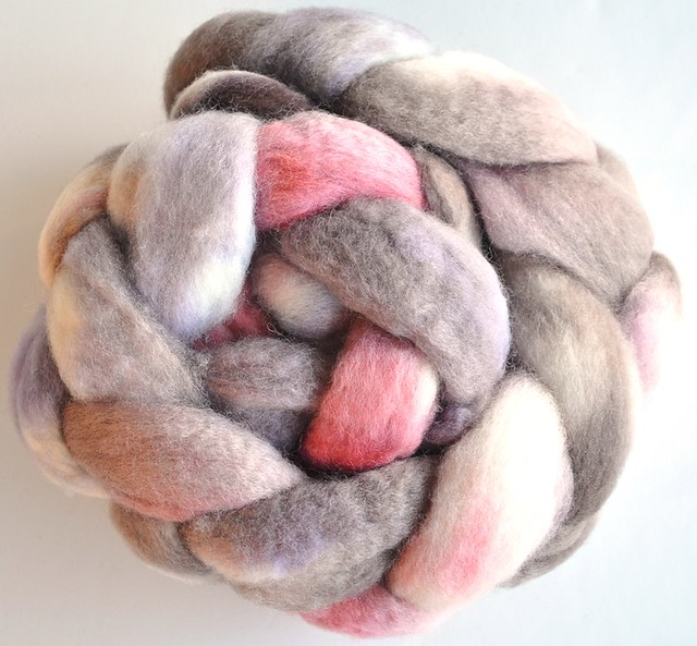 Dyed in the wool Handmade-100% BFL-Magic Mushroom-4oz