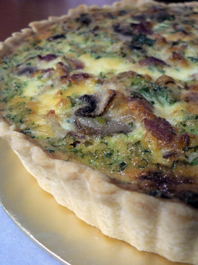 bacon and mushroom quiche by fbb