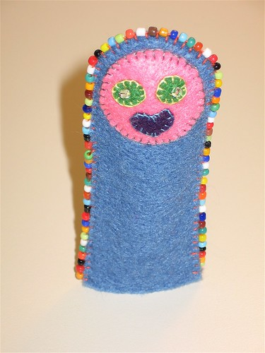 Felt Finger Puppet Standing Up