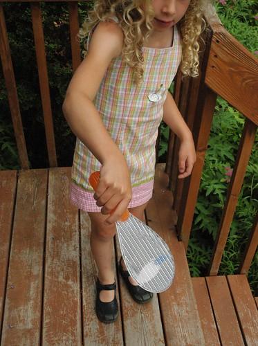 Sarah and the paddle ball