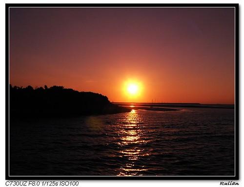 PA280067_太陽下山囉!! 美好的週末又過了一天