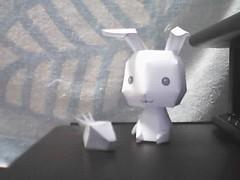 手工纸兔子