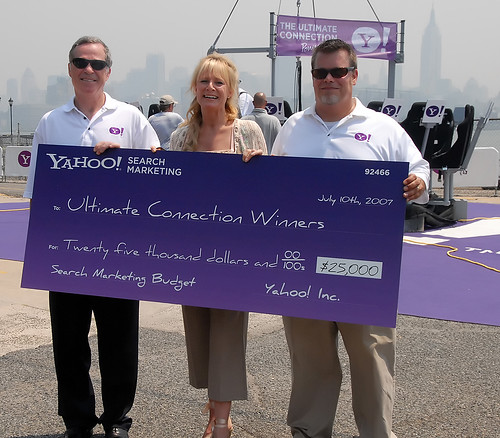 YSM Power Lunch in the Sky - Contest Winners Mike Willner, Melissa Belland, and Glen Halliday