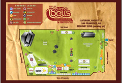 Rock The Bells Festival 2007 - San Francisco Map