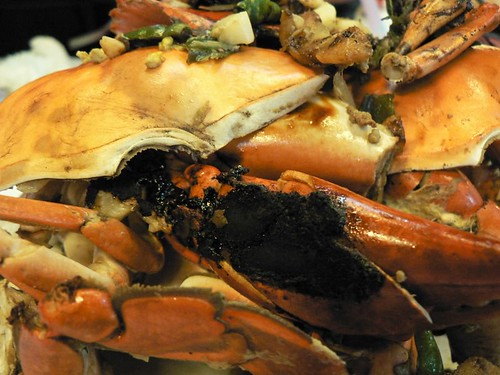 salt-baked crabs