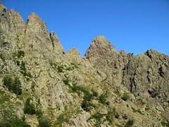Col au-dessus de Laoscella Soprana: vers le Pinzu Scaffone et les deux brèches à sa gauche