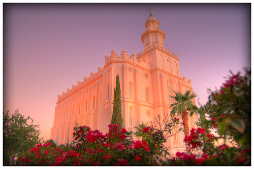 Pink Sunrise St. George Temple