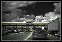 Stop! Pay or Drive E-ZPass (:: Igor Borisenko Photography ::) Tags: road new york bw d50 booth buffalo nikon highway state quality nikond50 best toll interstate i90 allrightsreserved ezpass thruway highquality amazingsky igorb81 igorborisenkophotography
