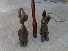 Tinners Hounds1 (dragonsfyre1701) Tags: sculpture dog art boot mining redruth