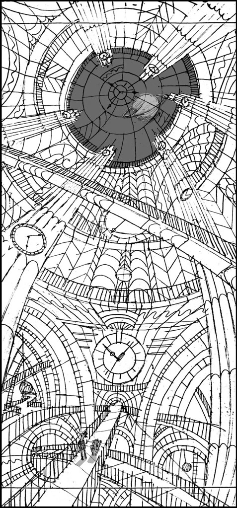 Cosmic Clock Interior Storyboard